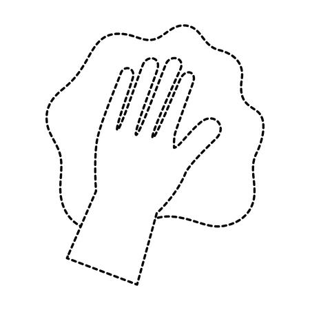 手の手袋ベクトル イラスト デザインで拭く