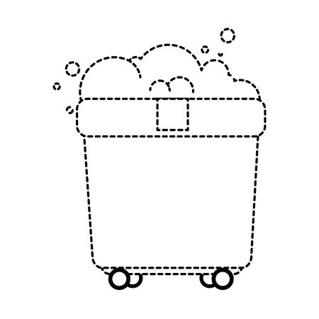 toilet trolley with wheels vector illustration design Ilustração