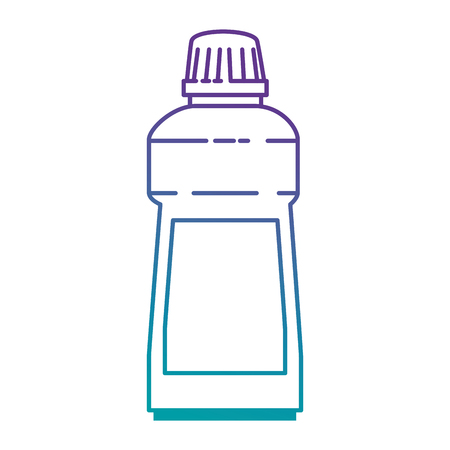 detergent bottle isolated icon vector illustratie ontwerp Stock Illustratie