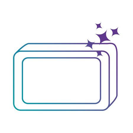 Jabón de barra con diseño de ilustración vectorial de espuma Foto de archivo - 88190986