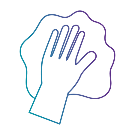 hand wiping with glove vector illustration design