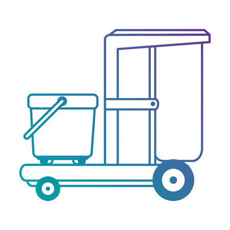 toilet trolley isolated icon vector illustration design