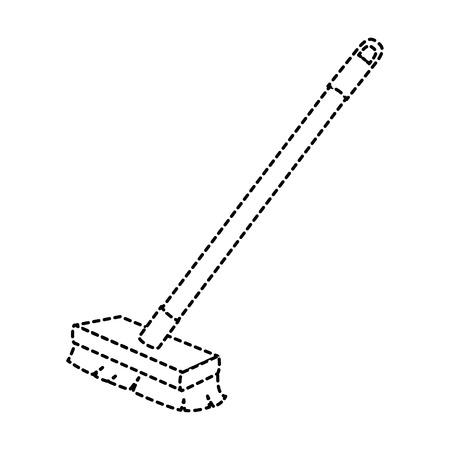 brush clean isolated icon vector illustration design Ilustração