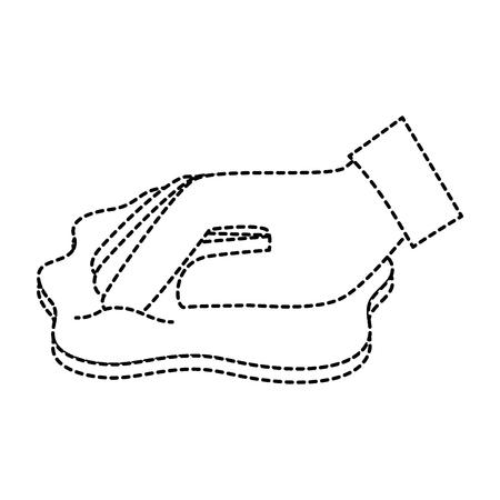手を拭布ベクトル イラスト デザイン