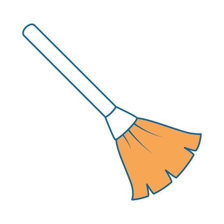 broom cleaner isolated icon vector illustration design Ilustração