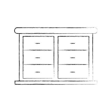 가구 욕실 서랍 캐비닛 나무 벡터 일러스트 레이션 스톡 콘텐츠 - 88191703