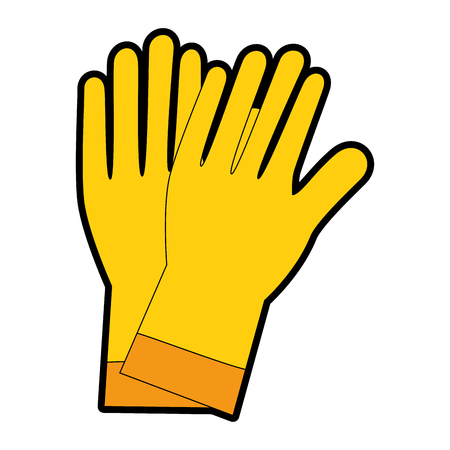 rubber gloves cleaning icon vector illustration design