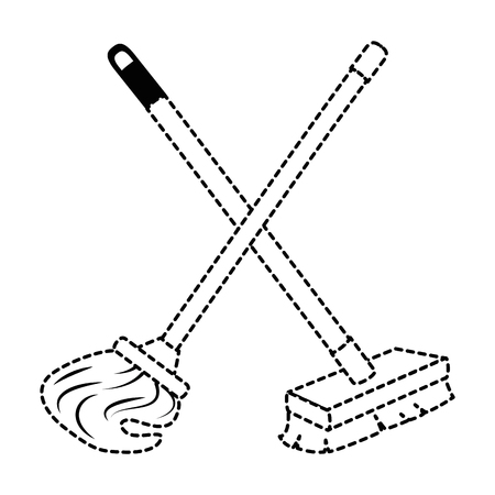 mop and brush icon vector illustration design Reklamní fotografie - 88194940