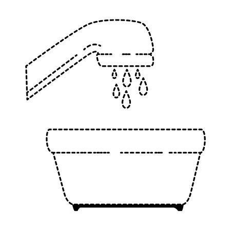 泡と水タップ ベクトル イラスト デザイン プラスチック ポット