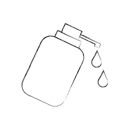 ディスペンサー ボトル ゲル液体石鹸ローション ベクトル図  イラスト・ベクター素材