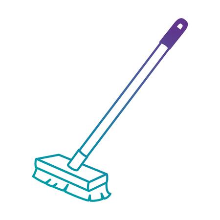 borstel schoon geïsoleerd pictogram vectorillustratieontwerp
