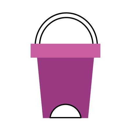 trash can bathroom tool plastic cleaning vector illustration Illustration