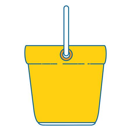 emmer schoon geïsoleerd pictogram vectorillustratieontwerp Stock Illustratie