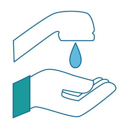 Lavage à la main icône isolé illustration vectorielle conception Banque d'images - 88196029