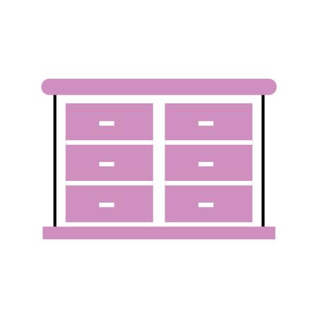 Mobili mobili armadio armadio illustrazione vettoriale legno Archivio Fotografico - 88197211