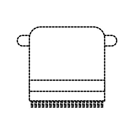 浴室タオル ラック綿衛生ベクトル図で  イラスト・ベクター素材