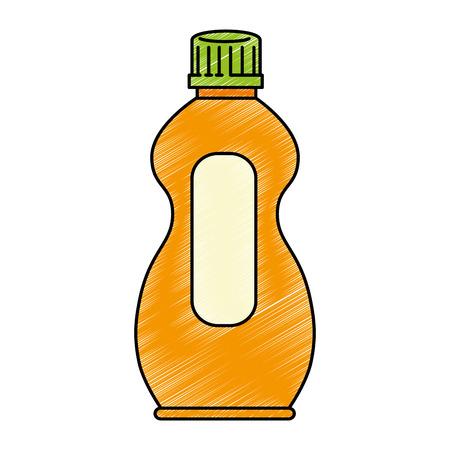 wasmiddel fles geïsoleerd pictogram vector illustratie ontwerp Stock Illustratie