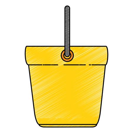 양동이 청소 격리 아이콘 벡터 일러스트 디자인 스톡 콘텐츠 - 88197296