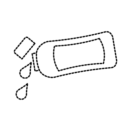 샴푸 플라스틱 병 로션 또는 샤워 젤 템플릿 디자인 벡터 일러스트 레이 션 일러스트
