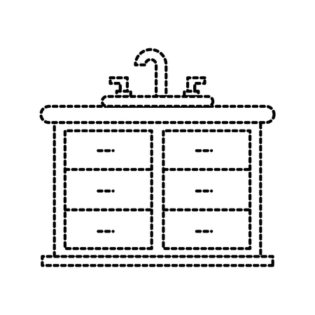 bathroom interior with sink vanity cabinet furniture