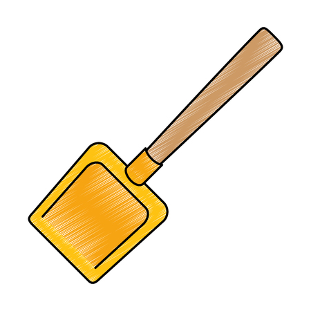 dustpan clean isolated icon vector illustration design Çizim