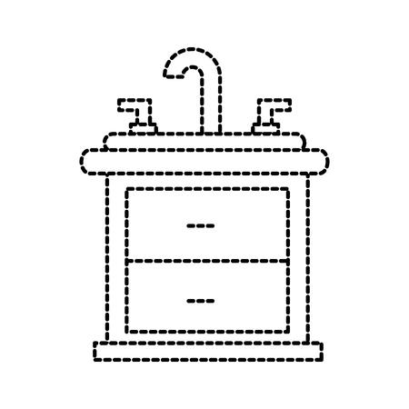 bathroom interior with sink vanity cabinet furniture
