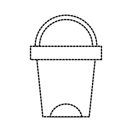 Vuilnisbak badkamer gereedschap plastic reiniging vectorillustratie Stockfoto - 88197423