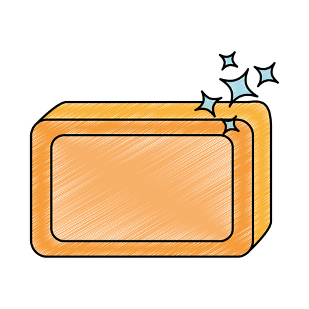 Jabón de barra con diseño de ilustración vectorial de espuma Foto de archivo - 88197424