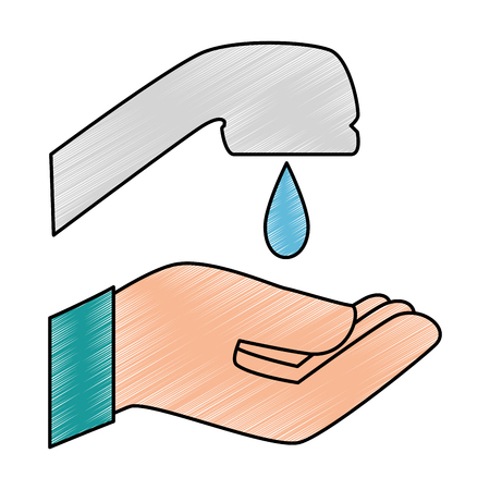 hand washing isolated icon vector illustration design