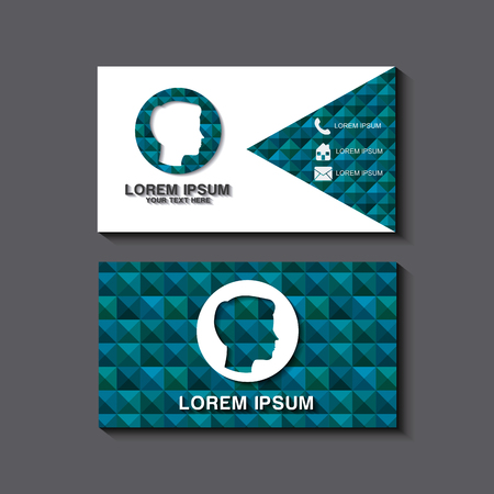 business card set template for identity corporate style vector illustration