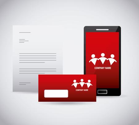 corporate identity stationery template design vector illustration Illusztráció