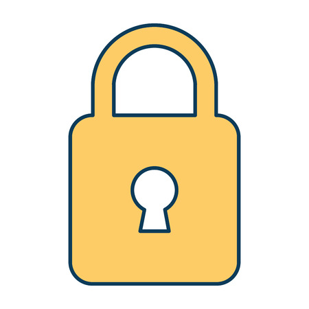 safe padlock isolated icon vector illustration design Stock Vector - 88199081