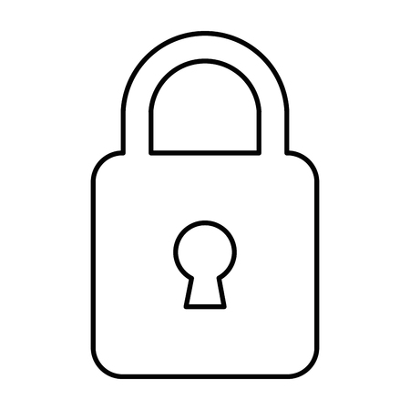 safe padlock isolated icon vector illustration design Stock Vector - 88193280