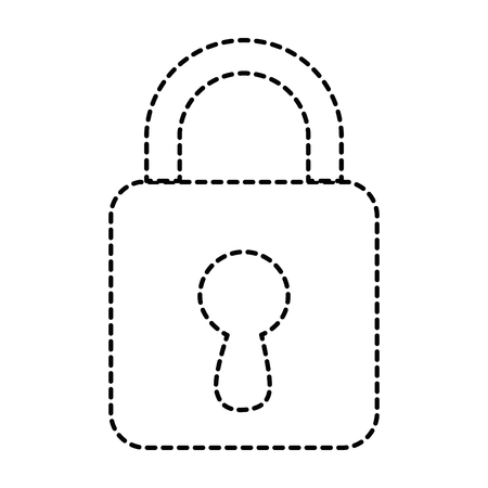 safe padlock isolated icon vector illustration design Ilustrace