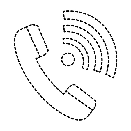 phone service with wifi waves vector illustration design