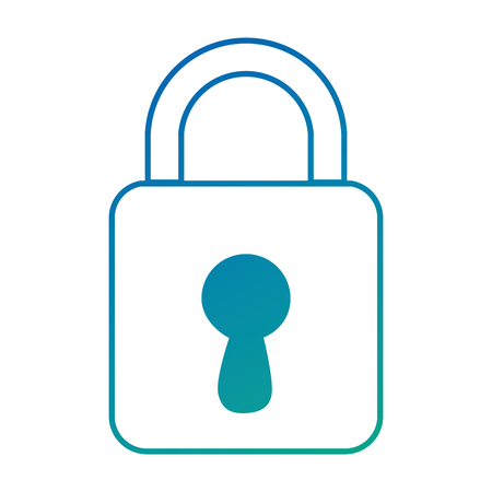 safe padlock isolated icon vector illustration design Stock Vector - 88196177