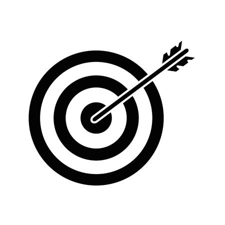 Bersaglio con illustrazione vettoriale illustrazione di icone a freccia Vettoriali