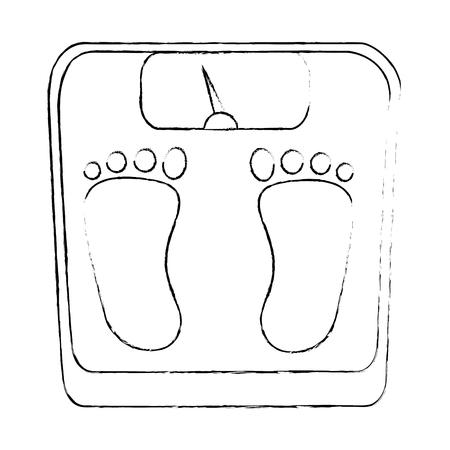 규모의 무게 측정 아이콘 벡터 일러스트 레이션 디자인