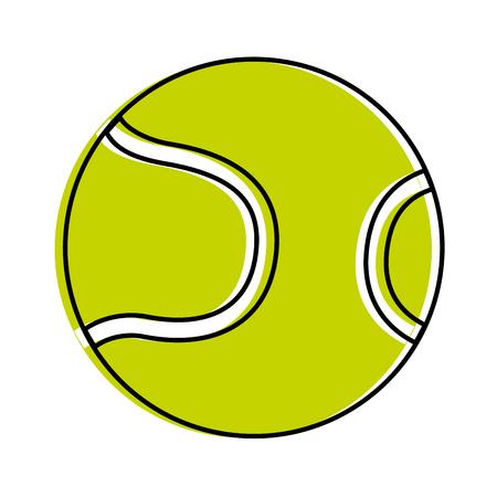 tennis ball isolated icon vector illustration design