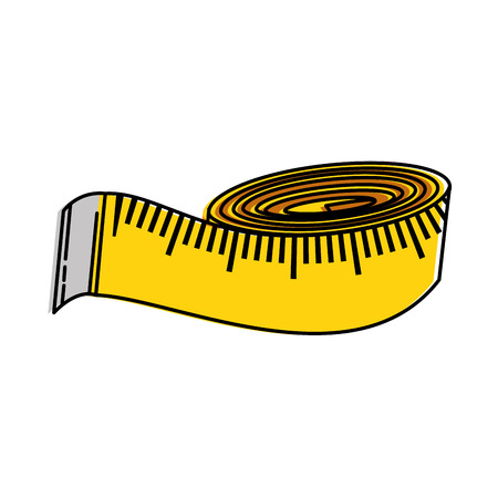 tape measure isolated icon vector illustration design Illustration