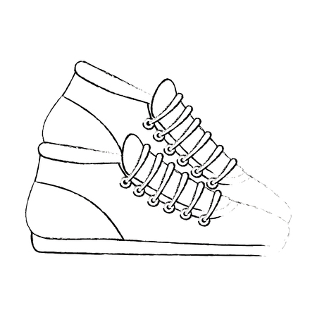sport tennisschoenen geïsoleerde pictogram vector illustratie ontwerp Stock Illustratie