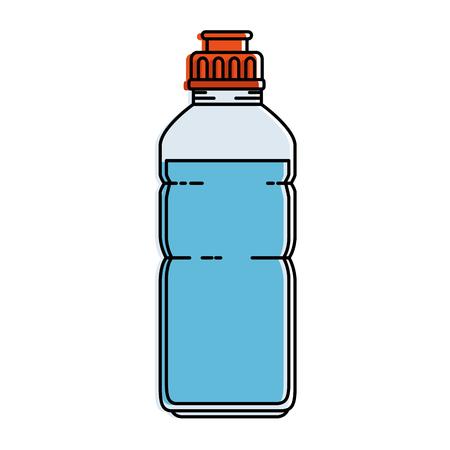 Water fles gym icon vector illustratie ontwerp