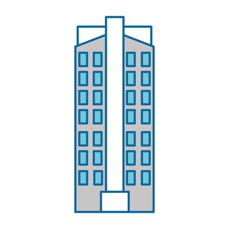 futuristic building isolated icon vector illustration design Banco de Imagens - 88205185