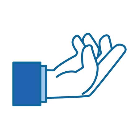 Menselijke hand vangen pictogram vector illustratie ontwerp Stockfoto - 88204616