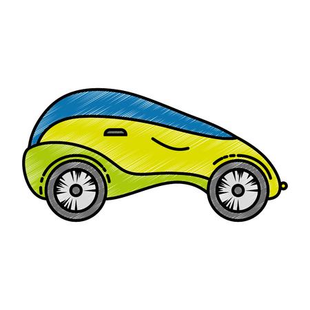 modern car futuristic icon vector illustration design
