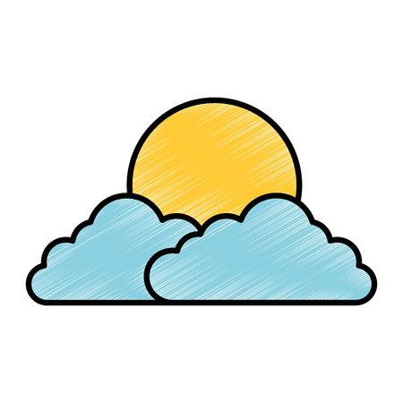 雲空太陽ベクトル イラスト デザイン  イラスト・ベクター素材