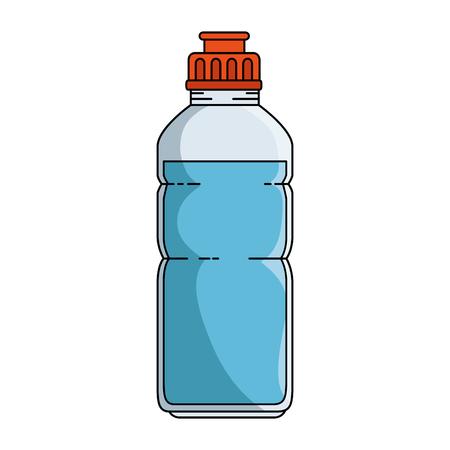 水のボトル ジム アイコン ベクトル イラスト デザインと人間の手