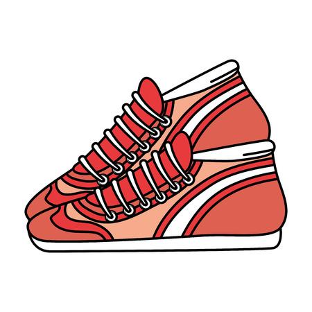 Sport tennisschoenen geïsoleerde pictogram vector illustratie ontwerp Stockfoto - 88205953