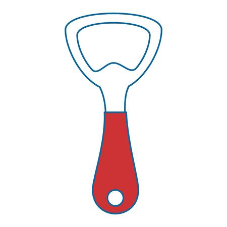 bottle opener kitchen cutlery icon vector illustration design Ilustração