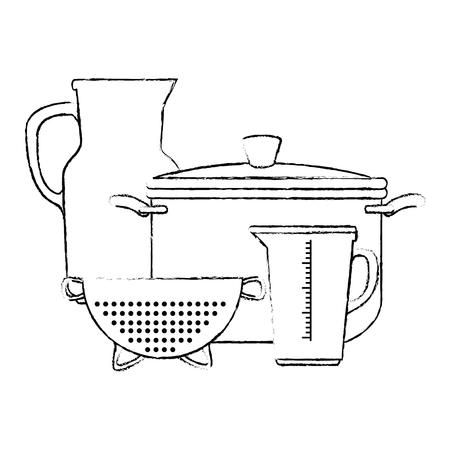 부엌 용기 벡터 일러스트 디자인의 집합 스톡 콘텐츠 - 88207137